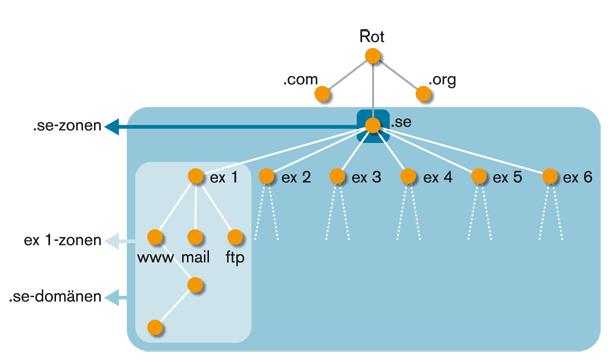 Figur 3. Domäner och zoner.