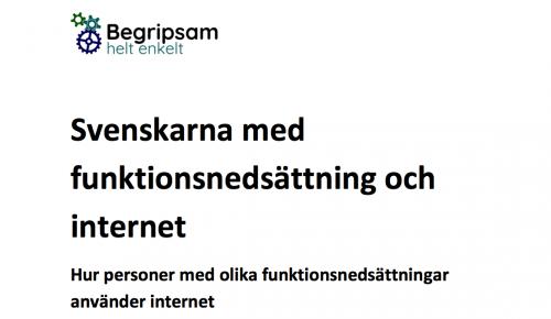Svenskarna med funktionsnedsättning och internet