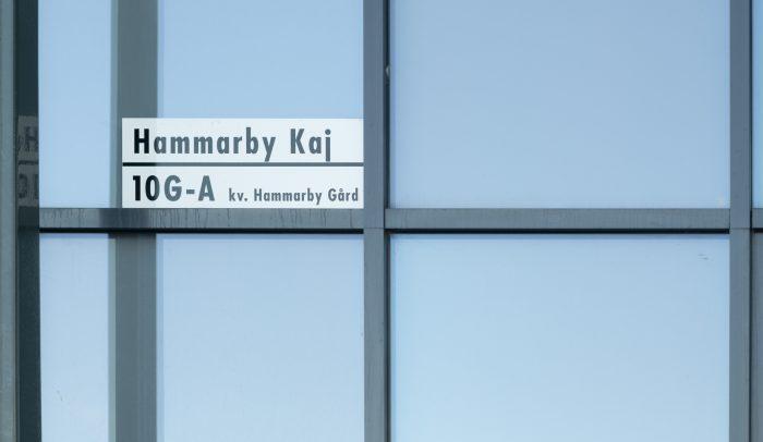 Adresskylt för Hammarby Kaj.