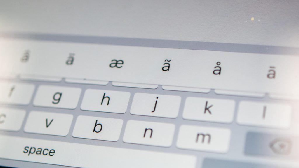 Tangentbord på en touchskärm.