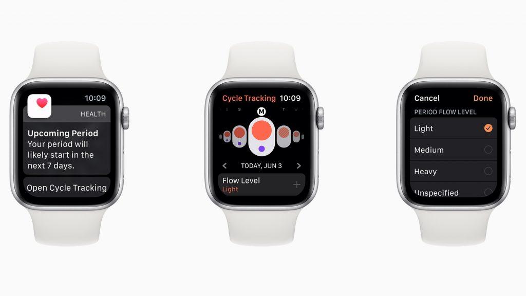 Apple Watch med en ny funktion som kartlägger menstruationscykler.