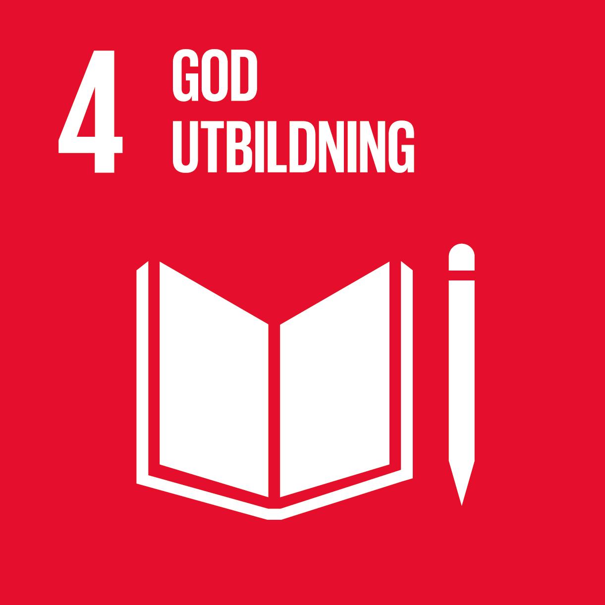 Globala mål 4, god utbildning