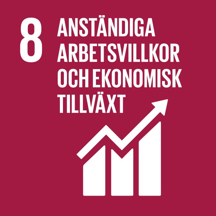 FN:s globala mål 8: Anständiga arbetsvillkor och ekonomisk tillväxt