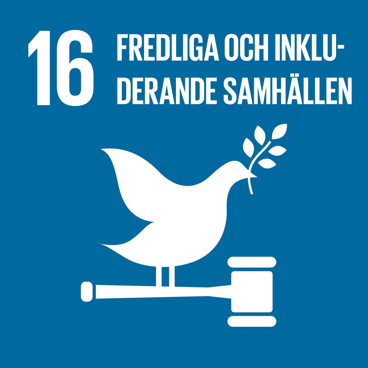 FN:s globala mål 16: Fredliga och inkluderande samhällen