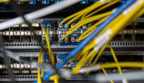 internetsladdar till en server