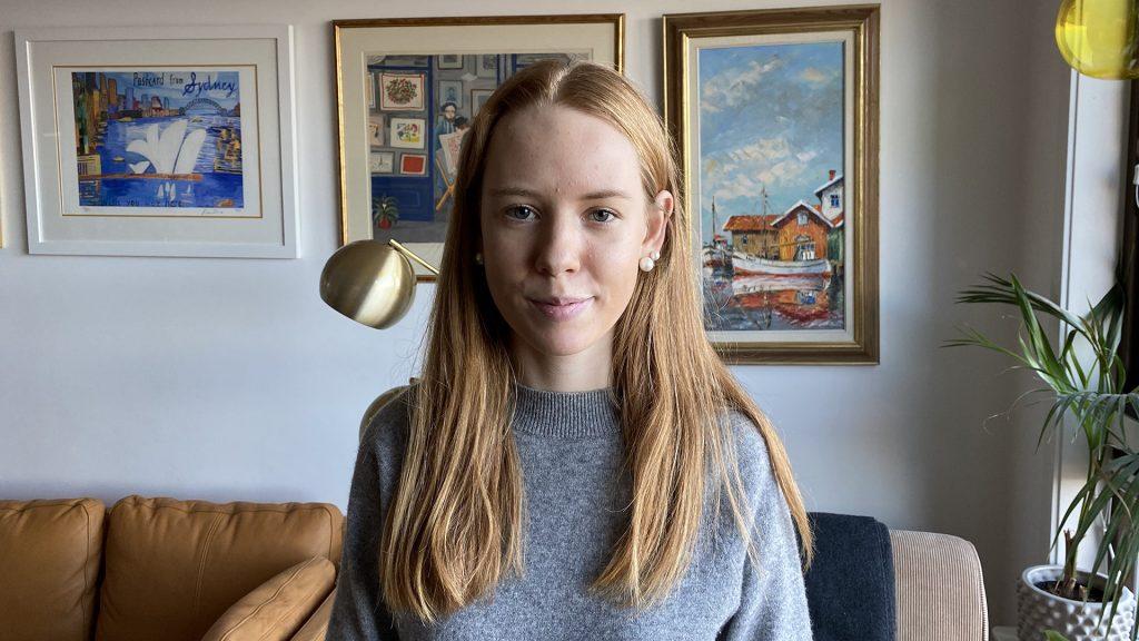 Porträtt av Julia Eriksson, elev på gymnasiet
